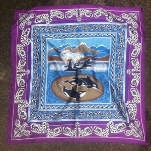 Aesotica Accessories - Aesotica by Anthony Paine Whale Family Scarf